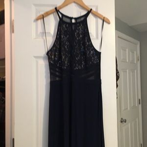 Dark navy gown